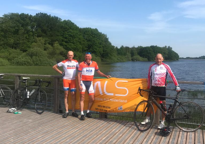Wim, Mark en Dik on tour voor TourdeALS en Team Westland